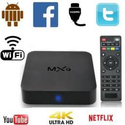 Receptor Tv Box 4k HD Transforme Sua Tv Plasma Lcd em Smart
