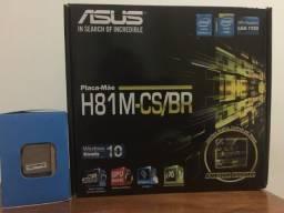 Placa Mãe Asus e Processador Pentium 3.2 G3250 - 1150