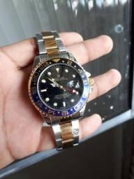 Rolex gmt master II ( rplc, resistente a água, dourado não cai)