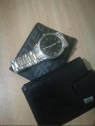 1 relógio 2 carteiras