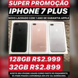 IPhone 7 Plus novo, aceito seu iPhone usado como parte do Pagamento
