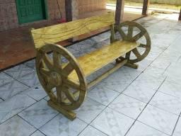 banco de roda de carreta