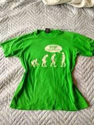 Camiseta P verde importada americana