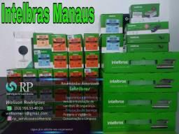 Kits INTELBRAS: Câmeras de segurança, Alarmes, Cerca elétrica, Porteiro e vídeo porteiro.