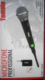 Microfone Sem Fio Profissional Completo C/ Cabo Transmissor ( aceitamos cartão)