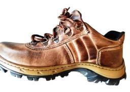 Sapato do Chefe Com Palmilha Confort e Couro de Boi e C.A