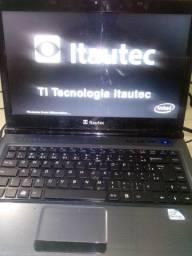 Notebook itautec w7535 funcionando perfeitamente no carregador
