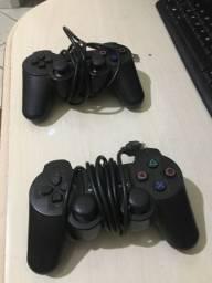 2 controles joystick entrada USB