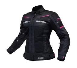 Jaqueta X11 Breeze Feminina preta e rosa (Medianeira/PR)