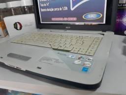 No tebook Acer | DualCore | 320GB HD | C/garantia | Revisado | Formatado