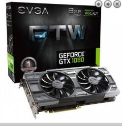 Placa de Video EVGA GeForce GTX 1080 8GB GDDR5X FTW 256-bit, 08G-P4-6286-KR<br><br>Usada