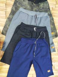 Bermuda moletom roupa masculina