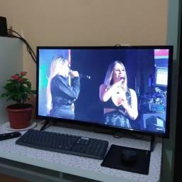 """Smart TV HD 32"""" Seminova - Wi-Fi, TV Digital, YouTube, Netflix"""