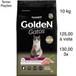Ração Golden Gatos Castrados FRANGO 10 kg (3x)