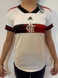 Camisa Feminina Flamengo - Branco