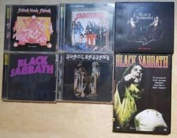 Pacote 5 CDs e 1 DVD Black Sabbath - Raridade