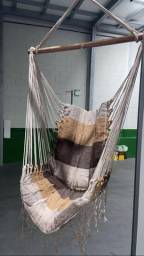 Cadeira rede suspensa acolchoada