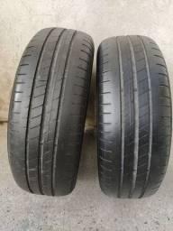 Par de pneus 195 65 15 Goodyear efficentgrip ótimos