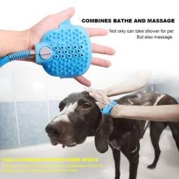 Cão Lavador Pet Ferramenta De Banho Luva Silicone Escova