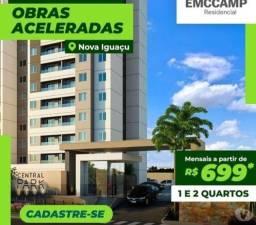 Apartamento 2 Quartos em Nova Iguaçu, Piscina, Garagem Coberta