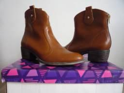 Bota Ankle Boot Caramelo Cravo & Canela Tamanho 35