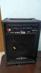Caixa Som Ativa Amplificador Palestra Violão Mf 200 Seminovo