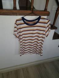 Camisa feminina listrada importada da Arizona (tamanho GG)