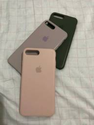 3 Capas para Iphone 7/8 plus aveludadas