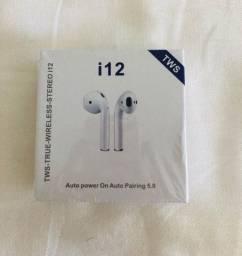 Fone TWS I12 Bluetooth - Aceito cartão!