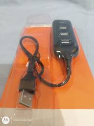 Hub USB p/4 conexão USB p/tv video game desktop notebook etc novo na embal. aceito cartão