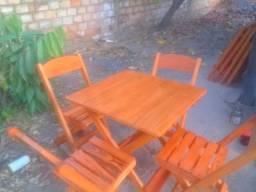 Jogos de cadeiras e mesa dobrável