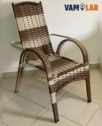 Cadeira fixa de luxo em fibra