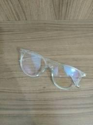 Óculos transparente azul novo