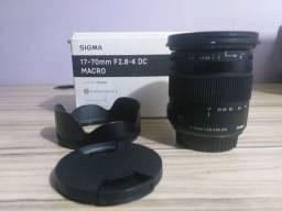Lente Sigma 17-70mm F2.8-4 DC Macro - Série Contemporary