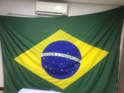Vendo essa bandeira do Brasil gigante (4x3)