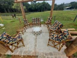 Jogos completos cadeiras de bambu 1 LINHA