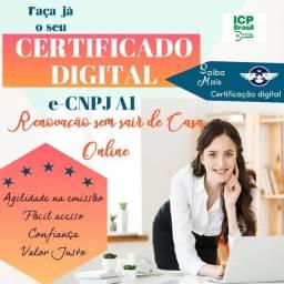 Título do anúncio: CERTIFICADO DIGITAL E-CNPJ A1 software +instalação +suporte