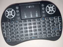 Mini Teclado Sem Fio Luminoso para Smart Tv / Video Game e Pc