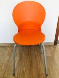 Título do anúncio: Cadeira Luna Polipropileno Laranja