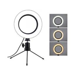 Ring Light Led Iluminador + Tripé 6 Polegada 16cm