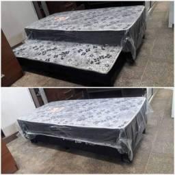 cama box com   auxiliar novo da fabrica