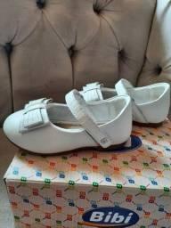 Sapato Bibi infantil menina 22 branco