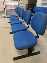 Cadeira longarina 5 lugares