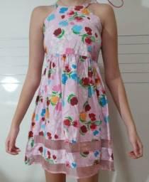 vestido infantil veste 06 a 10 anos