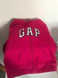 Moletom GAP rosa com zíper e capuz