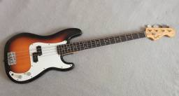 Baixo Squier by Fender Precision P Bass - Zerado!