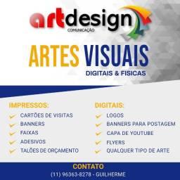 Artes Digitais - Banners, Logos, Cartões de Visita etc.
