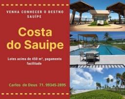 Reserva Sauípe , loteamento localizado a 300 metros da praia, infraestrutura completa