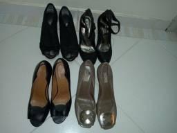 Lote com 8 pares de sapato n°36 e n°38