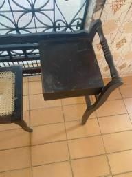 Cadeira de telefone antiquário clássica!